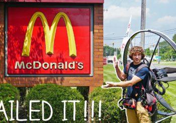 На парамоторе до McDonald's