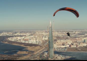 Зимний полет на парамоторе в Дубае