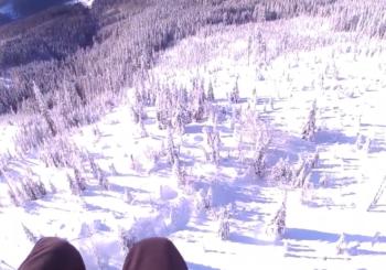 Зимний параглайдинг в Чехии
