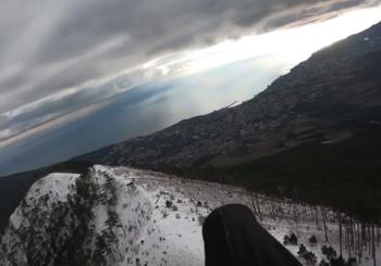 Полет над Ялтой в январе