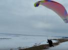 Как правильно погасить параплан при посадке в сильный ветер