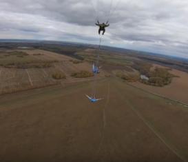 Снова воздушная гимнастика в небе под Новосибирском
