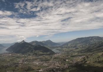 Полет с горы Ротенфлю, Швейцария