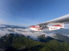 Полет к леднику Актру на Cessna 172