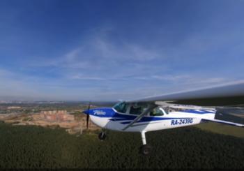Полет из Москвы в Питер на Cessna 172