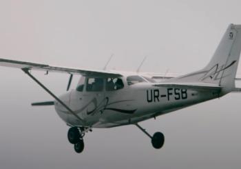 Дизельная Cessna 172 с двигателем от Mercedes